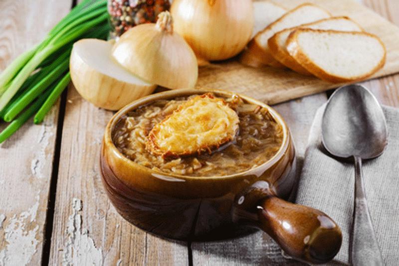 Recette de la soupe à l'oignon