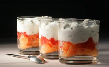Verrine mascarpone et saumon