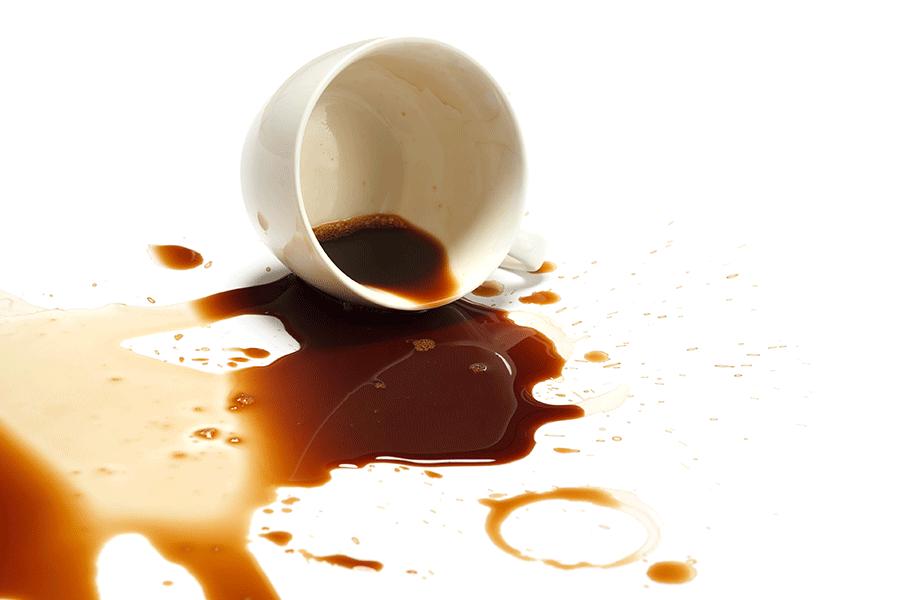 Astuces pour enlever les t ches de caf grands - Comment enlever les taches de regles ...