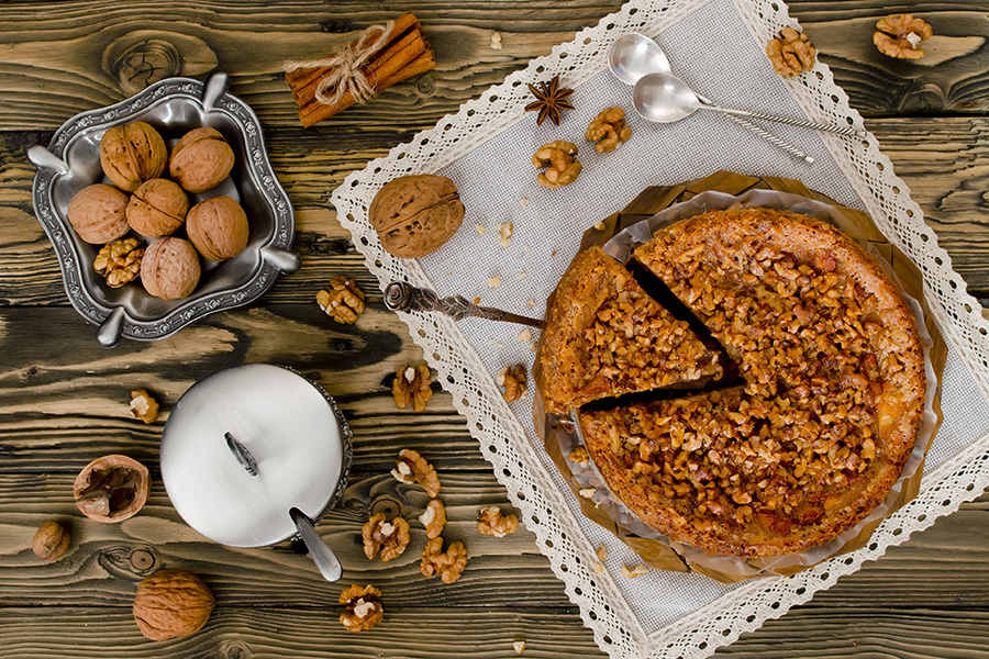 recette Gâteau aux pommes et noix