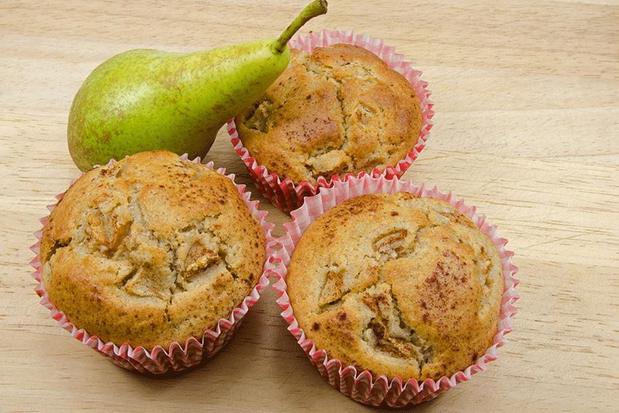 Muffins poires et miel