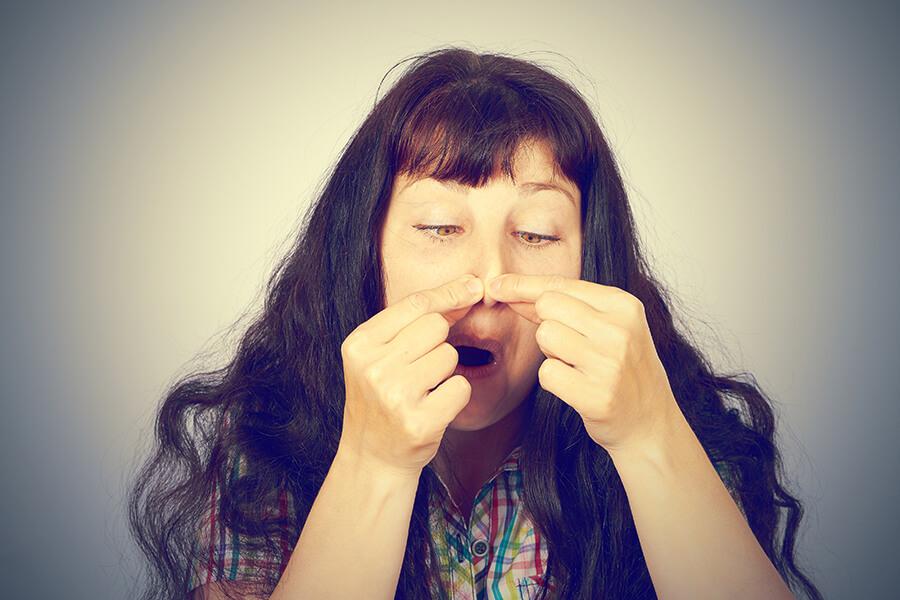 enlever le bouton sur le nez