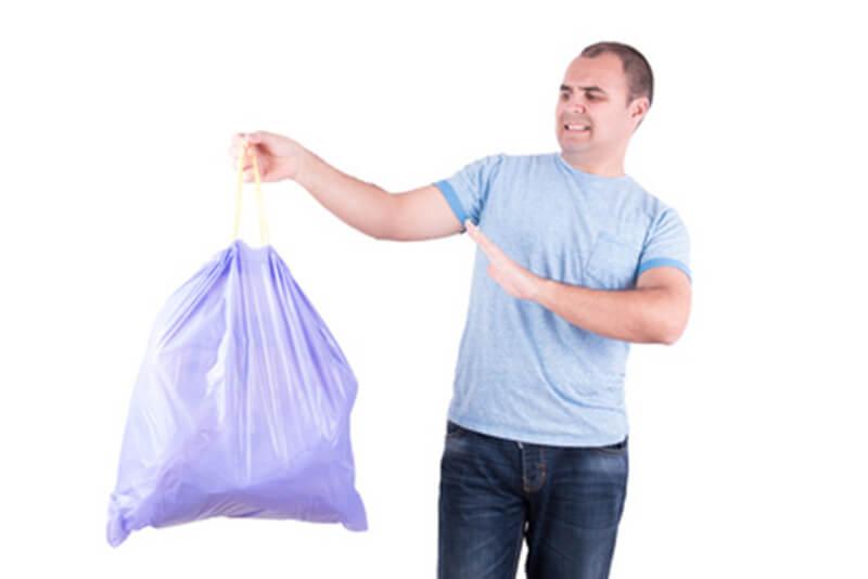 odeurs de poubelle