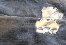retirer une tache de beurre sur un tissu